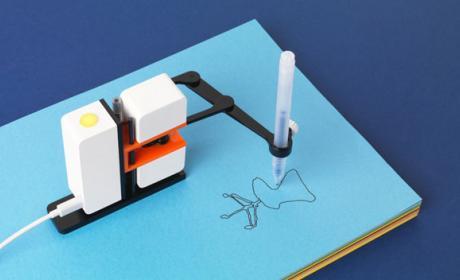 robot dibujar