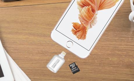 Cómo conectar una tarjeta microSD al iPhone