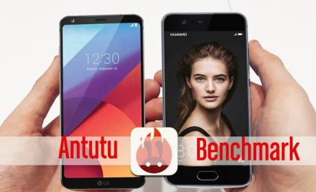 AnTuTu benchmark: Comparativa de LG G6 vs Huawei P10