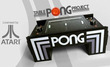 Revive el Pong de Atari en el salón de tu casa con esta mesa