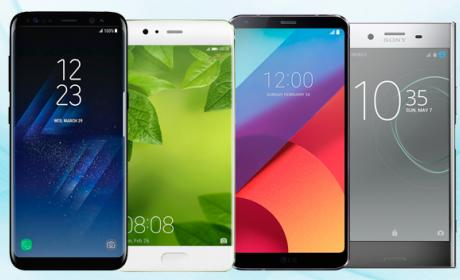 Comparativa: Samsung Galaxy S8+ vs Huawei P10 Plus vs LG G6 vs Sony Xperia XZ Premium