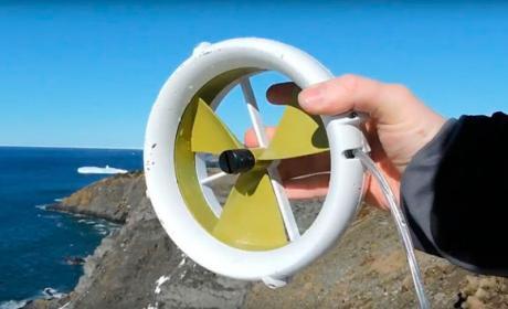 cargar movil vacaciones turbina viento agua