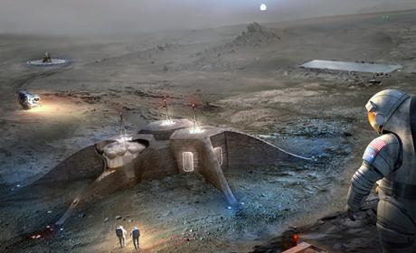 Las impresoras 3D que construirán casas en otros planetas