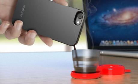 Mokase, la primera funda de móvil que te prepara café al instante