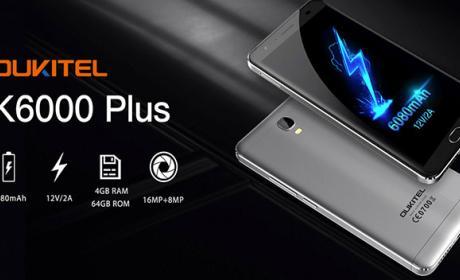 Consigue un Oukitel K6000 Plus por 169,99 dólares