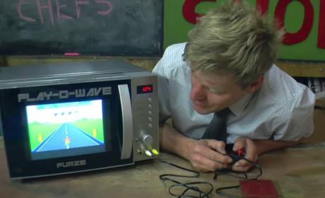 Con este microondas puedes jugar a videojuegos
