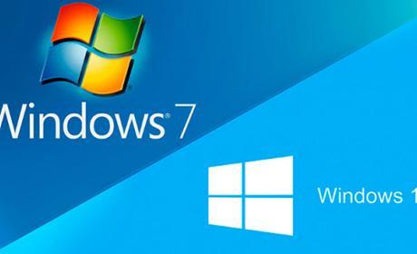 Windows 7 crece más rápido que Windows 10