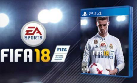 Carátula de FIFA 18 con Cristiano Ronaldo en portada.