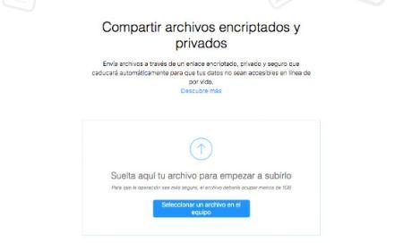 Firefox Send, una web para enviar archivos pesados de hasta 1 GB gratis.