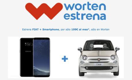 La promoción de renting de Worten con un S8 y un Fiat 500