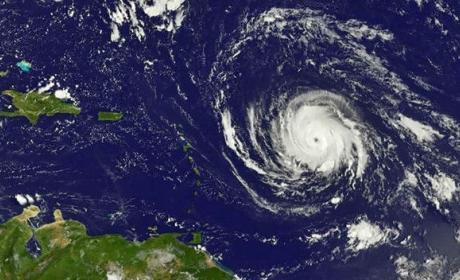 El Huracán Irma visto desde el espacio.