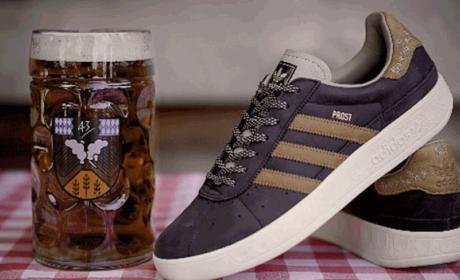 Modelo de zapatillas Adidas anti vómitos y cerveza