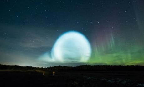Esta es la misteriosa bola de luz aparecida en Rusia.