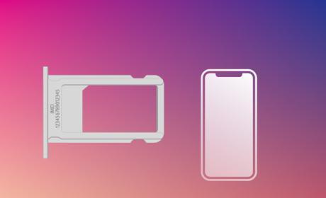 Un iPhone X con Dual SIM