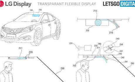 pantalla flexible transparente coche