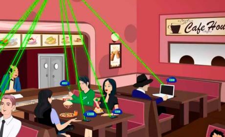 Wi-Charge conexión inalámbrica wifi conectar móviles