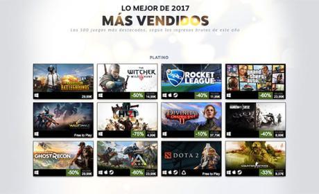 juegos más vendidos steam en 2017