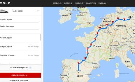 tesla planificador rutas online