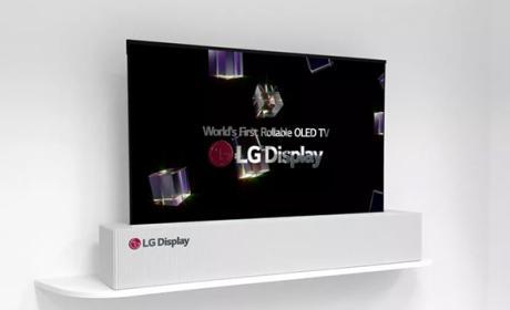 LG presenta un panel de 65 pulgadas que se enrolla como un papel