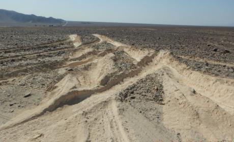 Líneas de Nazca dañadas.