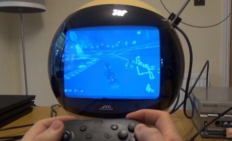 Así se ven los juegos modernos en un televisor esférico de 1970