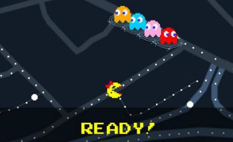 Jugar al Pacman en Google Maps.
