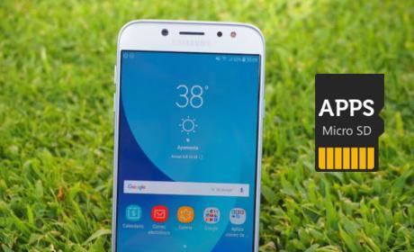 Galaxy J7 - Apps a microSD