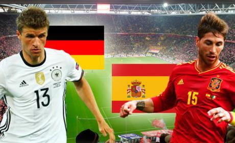 A qué hora es y dónde televisan el Alemania vs España.