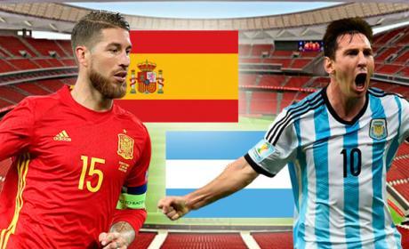 Horario y cómo ver por Internet y TV el España vs Argentina.