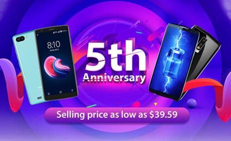El 5º aniversario de Blackview traerá móviles por 39,59 dólares