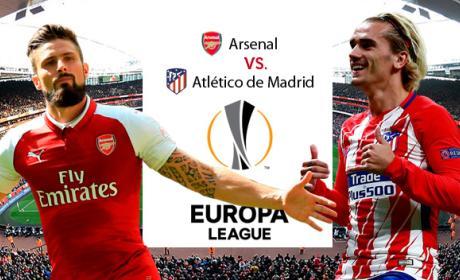 Dónde televisan el Arsenal vs Atlético de Madrid de Europa League y cómo ver el partido por Internet.