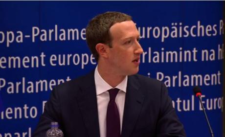 Un momento de Mark Zuckerberg en el Parlamento Europeo