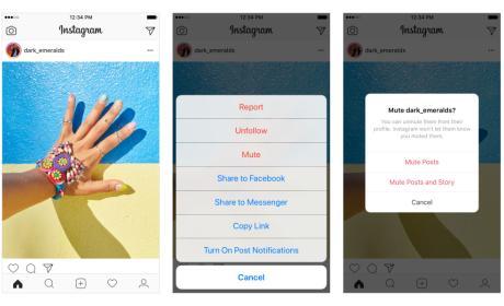 Silenciar usuarios de Instagram