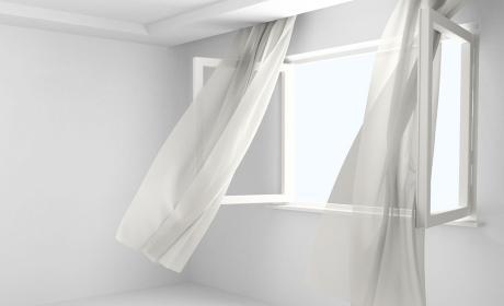cortinas, ventana