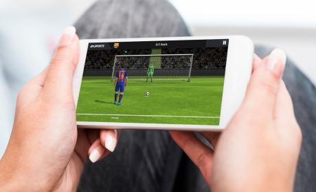 Juego de fútbol en el móvil