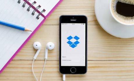 Aplicación de Dropbox en el iPhone