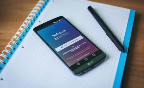 Aplicación de Instagram en móvil Android