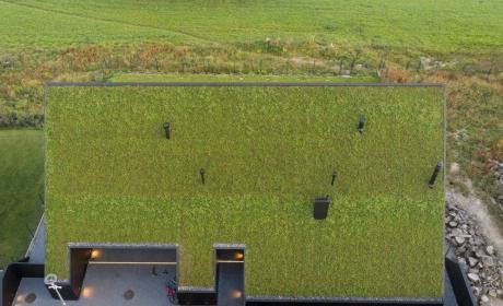 Casas con tejado de hierba
