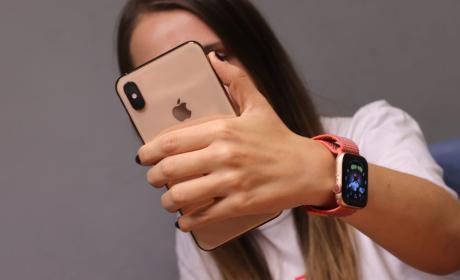 iPhone XS Max con el Apple Watch 4