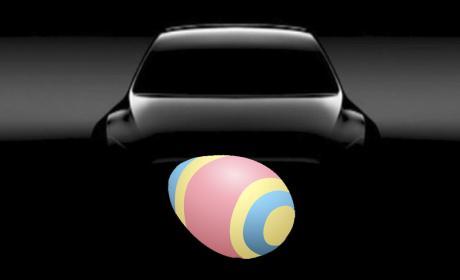 Easter egg tesla