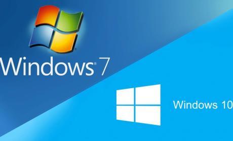 Windows 7 a Windows 10