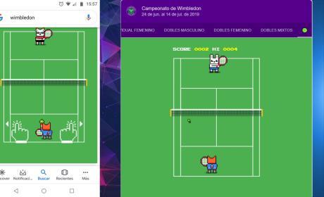 Juego de tenis de Google