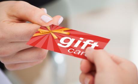 Cheque regalo tarjeta regalo
