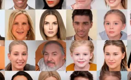 caras falsas fake