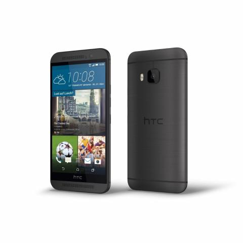 HTC One M9 acabado en color negro. Vista frontal y trasera. - 0