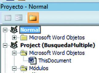 Pantalla de acceso al editor de Visual Basic