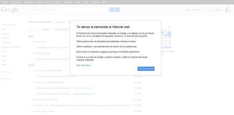 Imagen Historial Web Google Chrome