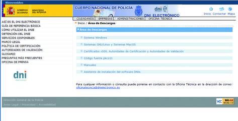 imagen de la interfaz de la web