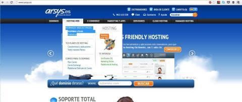 Interfaz Arsys WebMaker