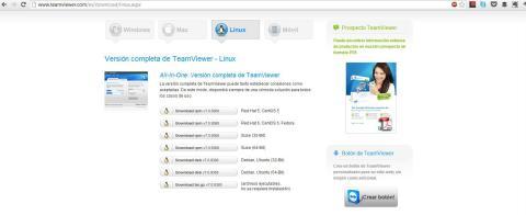 Web TeamViewer Linux